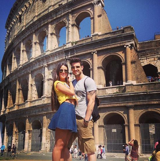 La romántica escapada de Aitor Ocio y su nueva novia a Roma