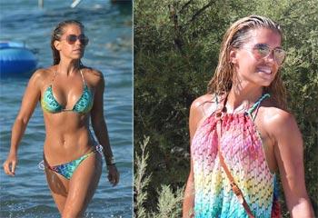 Sylvie van der Vaart luce un 'cuerpo 10' en la playa, mientras se le atribuye una nueva conquista