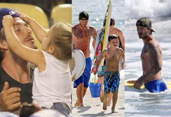 David Beckham, papá a tiempo completo