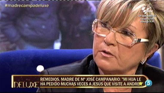 Remedios, madre de María José Campanario: 'María José siempre ha querido tener una buena relación con Belén Esteban'