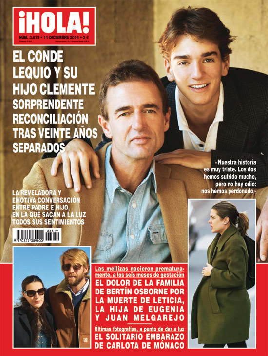 En ¡HOLA!: La sorprendente reconciliación del conde Lequio y su hijo Clemente, el dolor de la familia Osborne, el solitario embarazo de Carlota de Mónaco...