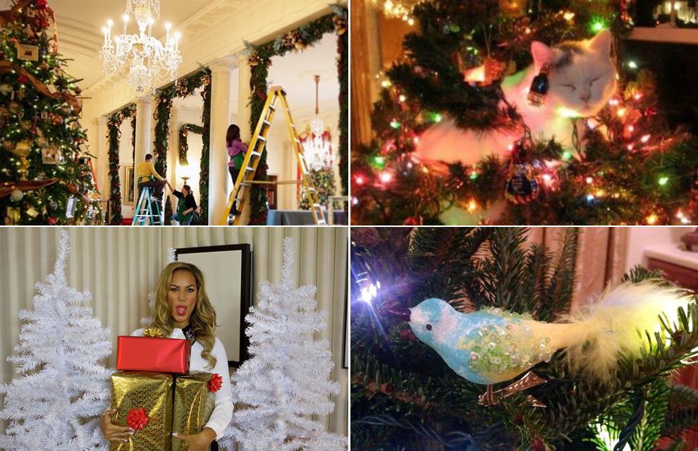 la elegante decoracin de la casa blanca michelle obama comparti esta imagen del proceso en