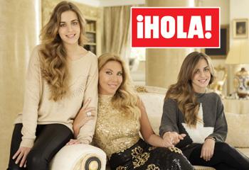 Exclusiva en ¡HOLA!: Norma Duval posa por primera vez con las hijas gemelas de su hermana, que viven con ella tras fallecer Carla