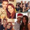En pareja, con sus hijos, en familia... los famosos nos muestran cómo viven estas fiestas