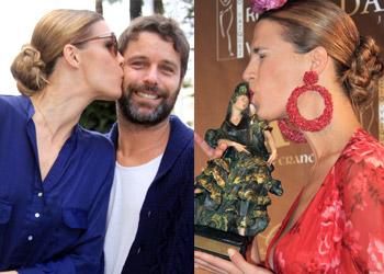 Laura Sánchez y David Ascanio, besos con mucho arte