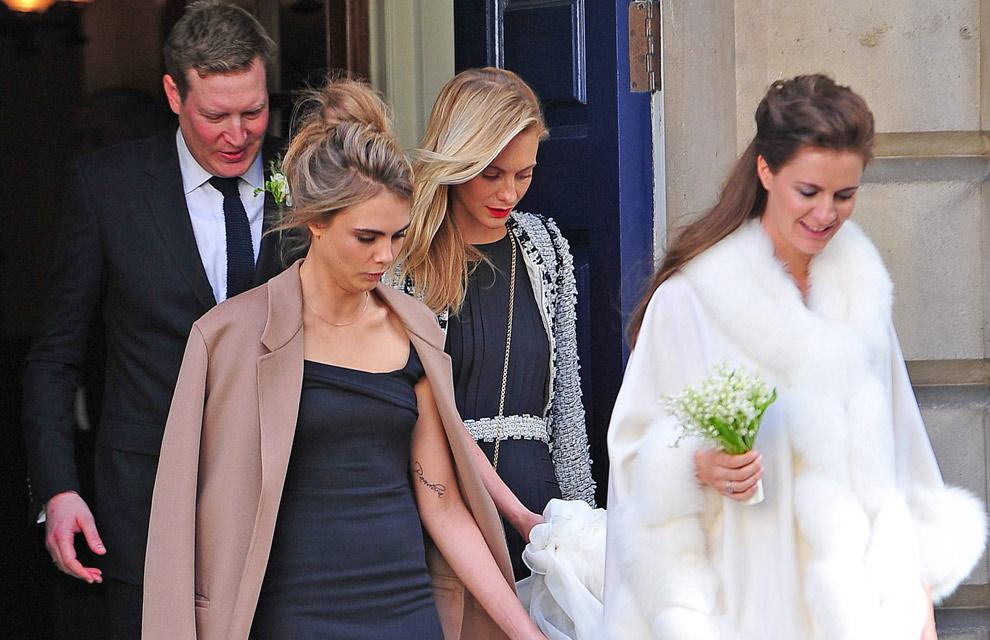 Cara y Poppy Delevingne se convierten en las mejores damas de honor de su hermana Chloe