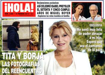 En ¡HOLA!: Las declaraciones de Tita y Borja Thyssen tras su reencuentro más esperado