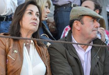 Carmen Martínez-Bordiú y Luis Miguel Rodríguez, tarde de toros en Olivenza