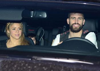 Shakira, Piqué y Milan acuden al primer cumpleaños de la hija de Cesc Fábregas
