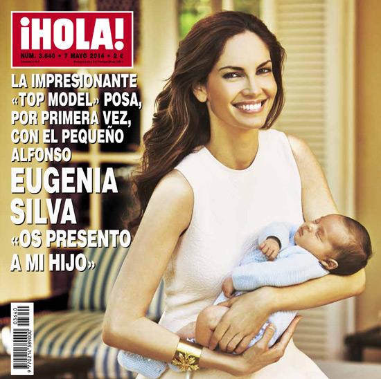 En ¡HOLA!, Eugenia Silva posa por primera vez con el pequeño Alfonso: 'Os presento a mi hijo'