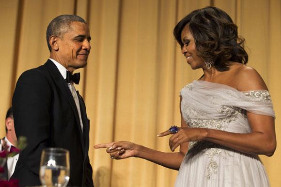 Michelle Obama, una elegante anfitriona de Lupita Nyong'o, Sofía Vergara, Irina Shayk... en la cena de corresponsales de la Casa Blanca