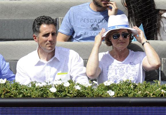 Alba Carrillo y su hijo Lucas, el mejor apoyo de Feliciano López en sus triunfos