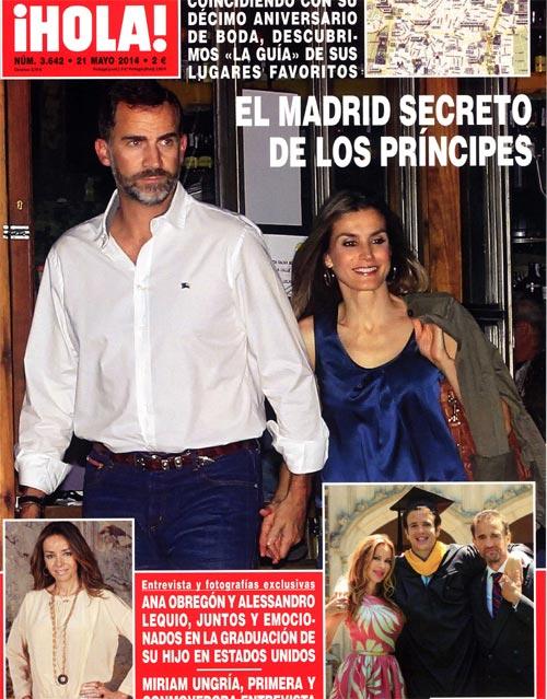 En ¡HOLA!, el Madrid secreto de los Príncipes; Isabel Preysler, espectacular de blanco, en la fiesta del cónsul de Bélgica en Sevilla; Stella del Carmen Banderas, en su baile de fin de curso...