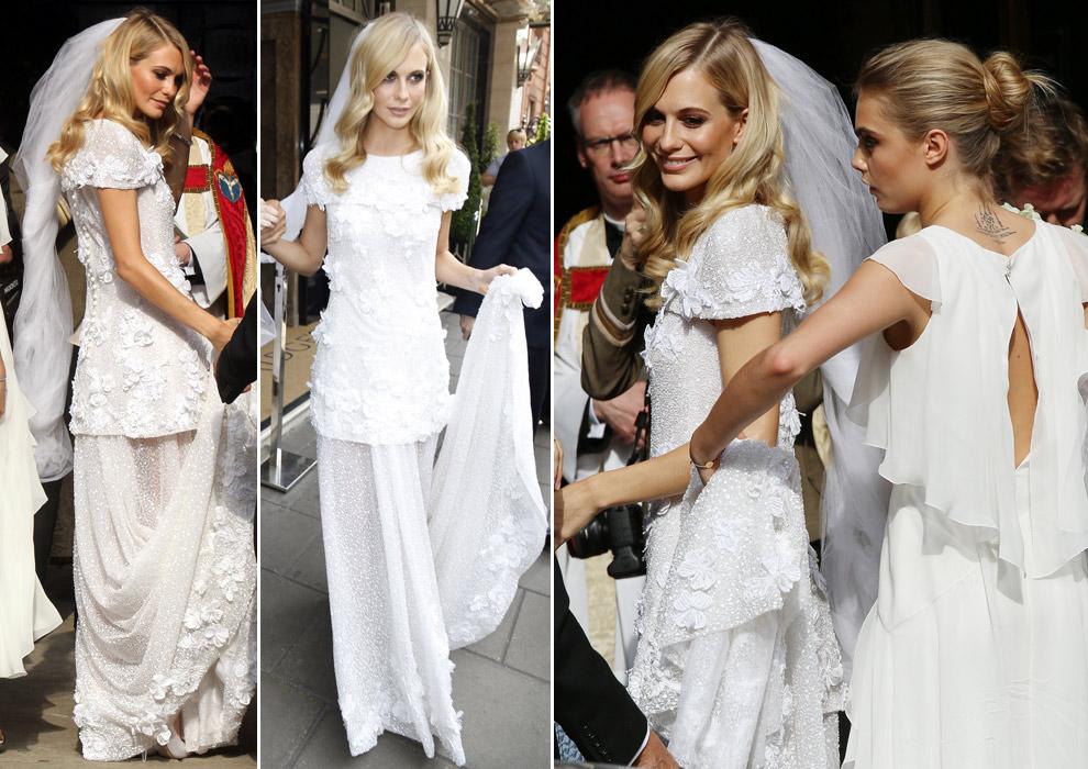 La divertida y original boda de la modelo Poppy Delevingne y James Cook en Londres