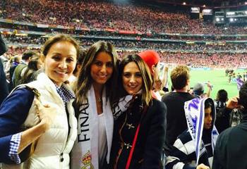 Isabel Preysler y sus hijas celebran en Lisboa la décima Copa de Europa del Real Madrid