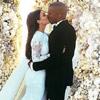 Primeras imágenes del momento del 'sí, quiero' de Kim Kardashian y Kanye West