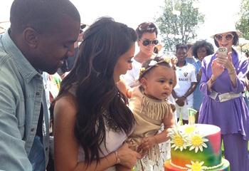 Kim Kardashian celebra el primer cumpleaños de su hija con una fiesta hippie al estilo Coachella