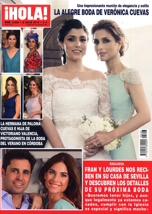 En ¡HOLA!: La alegre boda de Verónica Cuevas; Fran y Lourdes nos reciben en exclusiva en su casa de Sevilla y descubren los detalles de su próxima boda; y más...
