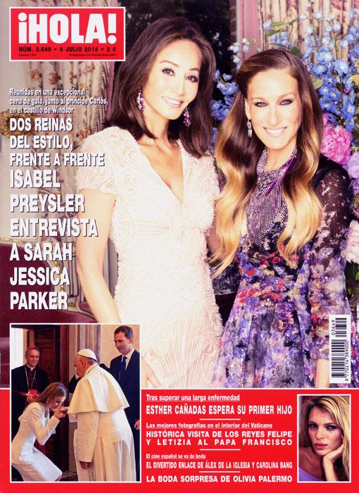 En ¡HOLA!: Isabel Preysler entrevista a Sarah Jessica Parker