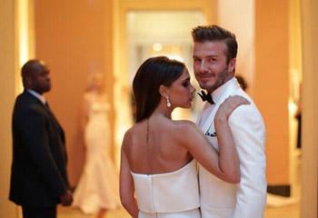 Los Beckham comparten fotos de su boda para celebrar su aniversario