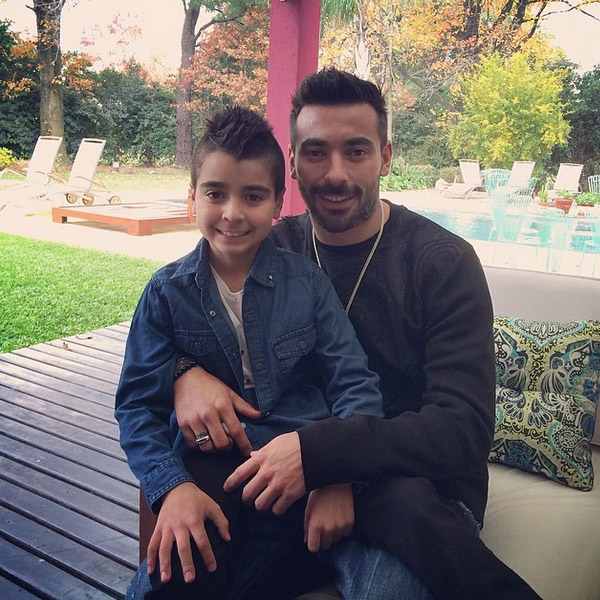 Photo of Ezequiel Lavezzi & his  Son  Tomas Lavezzi