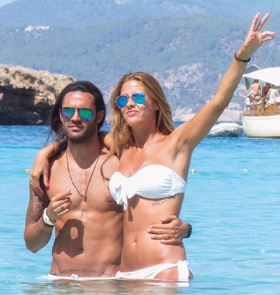 La felicidad de Elisabeth Reyes y Sergio Sánchez en sus primeras vacaciones como marido y mujer
