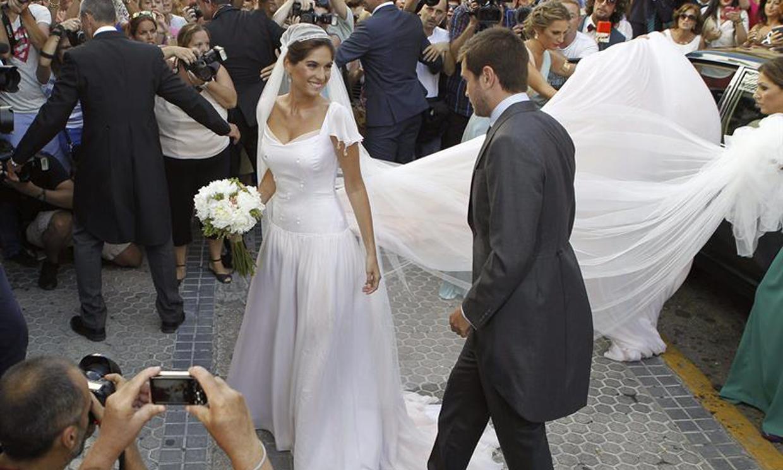 Lourdes Montes, una novia romántica, vintage y en tono rosa