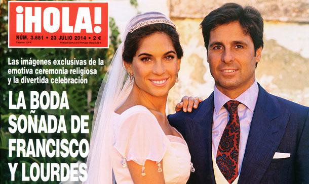 ¡HOLA! adelanta su edición con las imágenes exclusivas de la boda soñada de Francisco Rivera y Lourdes Montes
