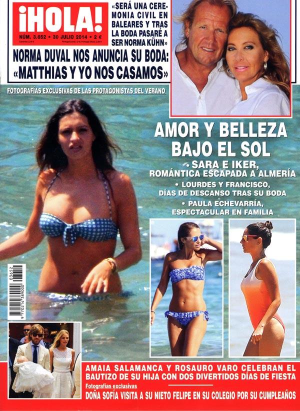 En ¡HOLA!, Sara e Iker, Lourdes y Francisco, Paula y David... amor y belleza bajo el sol