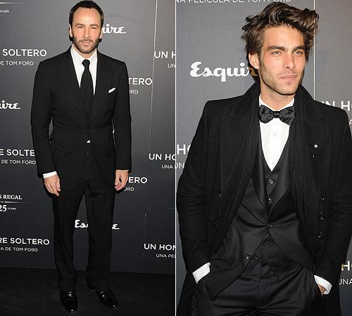 Hombres con estilo: los 'looks' de Jon Kortajarena y Tom Ford en Madrid