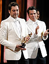 ¿Qué actores eligieron vestir de blanco en los Oscar?