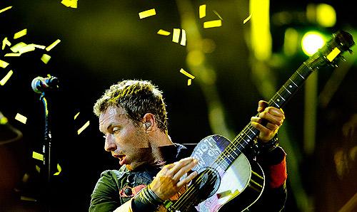El 'look' sobre el escenario de Chris Martin