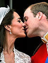 El beso entre Guillermo de Inglaterra y Catherine Middleton, el mejor del año