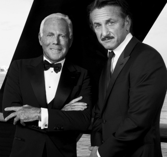 Sean Penn y Giorgio Armani, unidos por Haití
