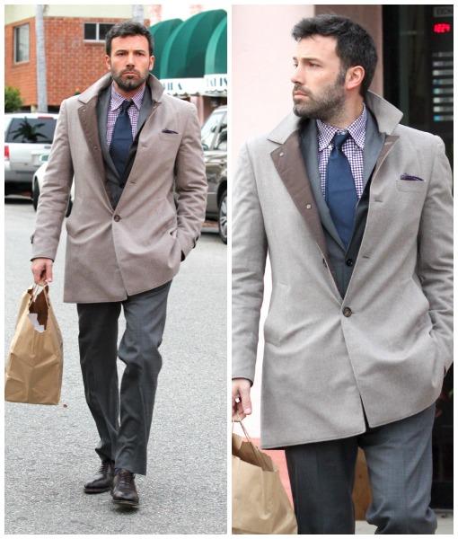 Un abrigo con estilo para Ben Affleck