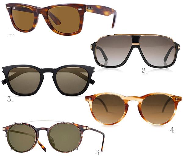 LAS TENDENCIAS. hombre,gafas,18. 1. La clásica Wayfarer de Ray,Ban, con  montura de acetato en color Habana y lente a juego. 2. Las Elliot Square  Sunglasses,