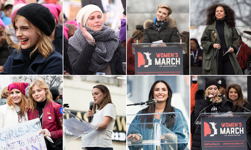 Charlize Theron, Scarlett Johansson y una multitud de 'celebrities' se unen a la #WomensMarch
