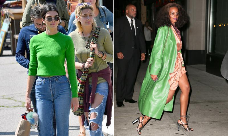 ¡Todo al 'greenery'! Así han lucido Kendall Jenner y otras 'celebs' el color de 2017