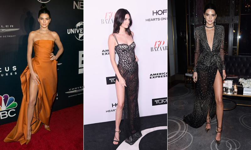 10 ocasiones en las que Kendall Jenner lució un vestido con abertura lateral 'a lo Angelina Jolie '