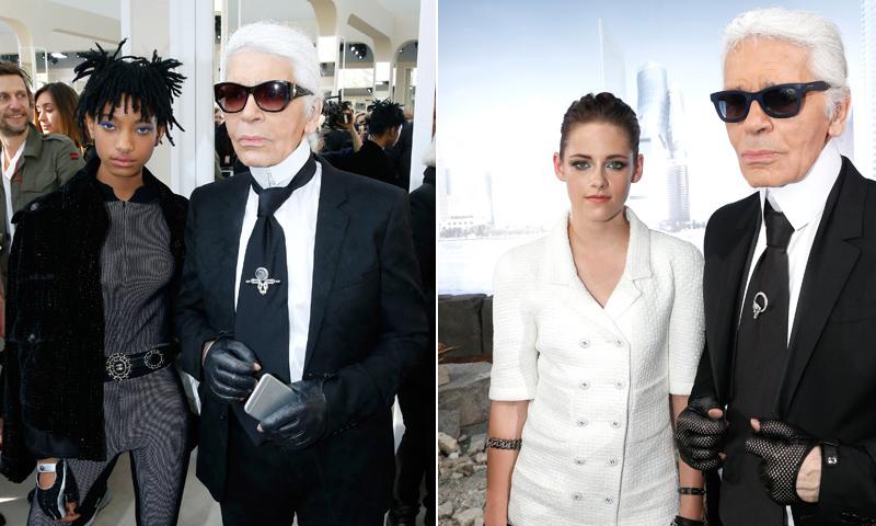 Willow Smith y otras 'celebs' que forman parte del atípico universo creativo de Karl Lagerfeld