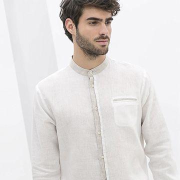 196d374df5a Cuellos 'mao', la apuesta en las camisas femeninas y masculinas de Zara -  Foto
