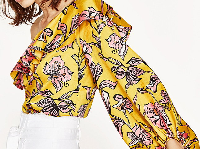 El body estampado de Zara que hará que te reconcilies con la tendencia