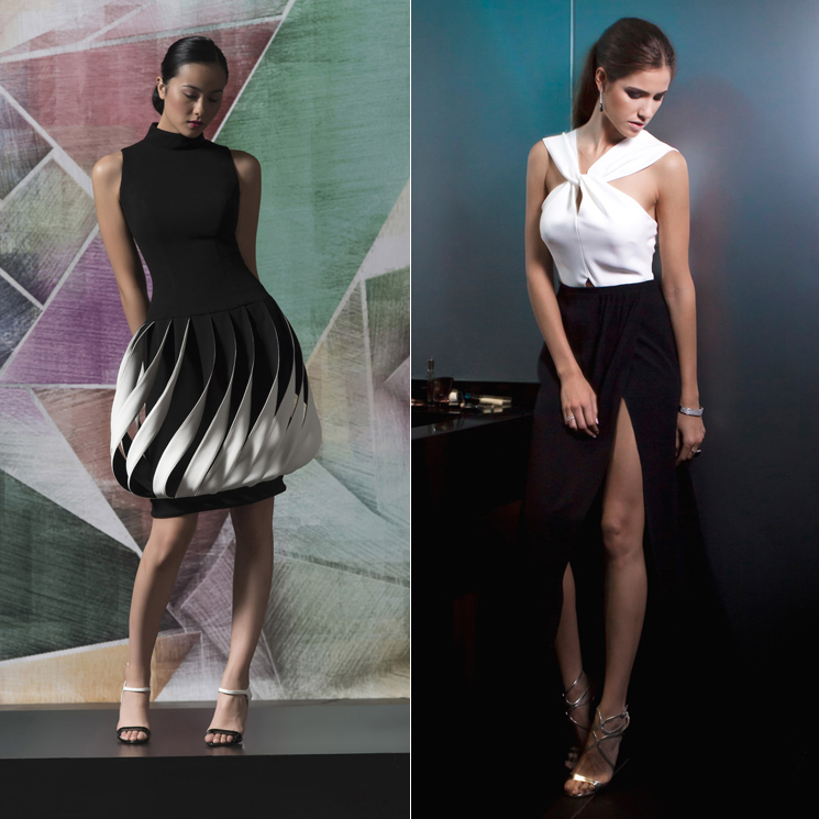 cf109fb0c5 10 ideas para vestir de blanco y negro en una boda de verano - Foto