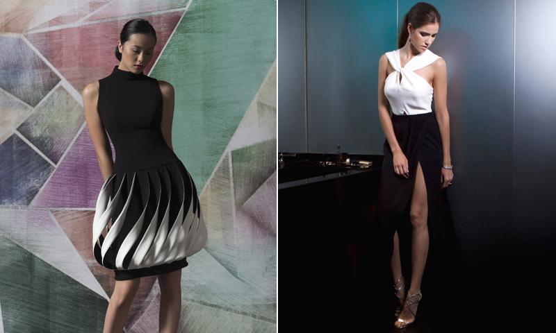 10 ideas para vestir de blanco y negro en una boda de verano