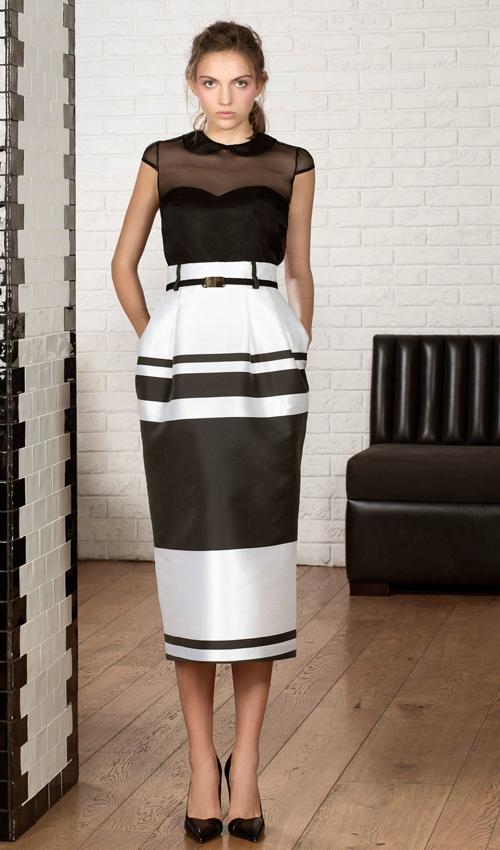 Vestido negro con blanco para boda