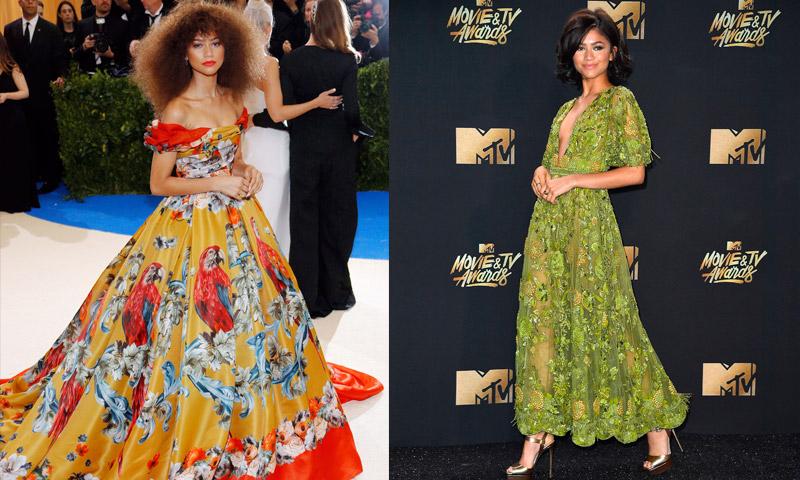 Una estrella en ascenso: Zendaya en 10 'looks' de alfombra roja