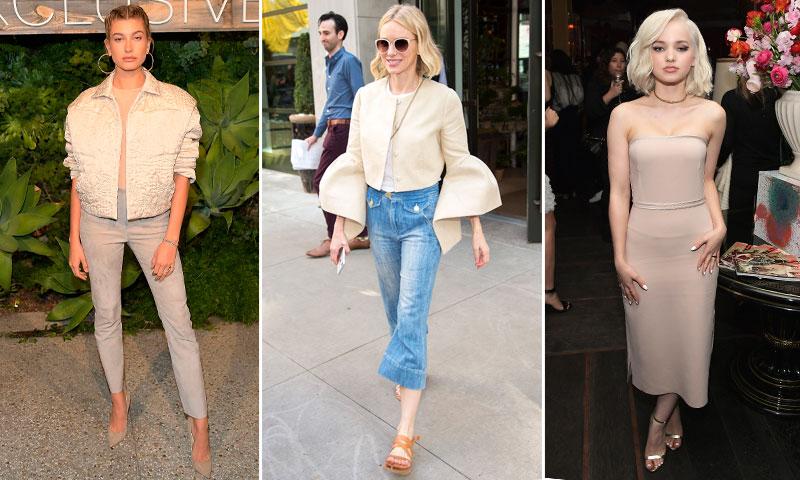 Las 'celebrities' nos muestran la manera más chic de llevar los tonos neutros