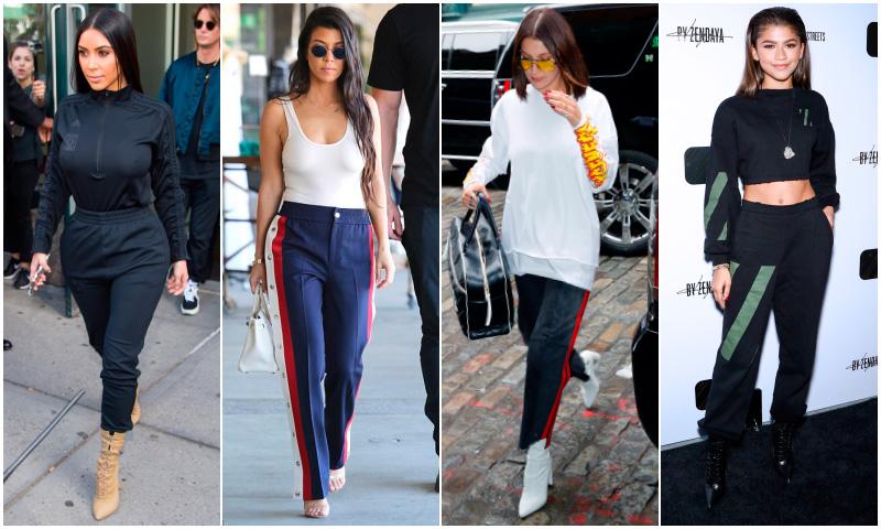 Zendaya, el clan Kardashian, las Hadid y su prenda talismán: el pantalón de chándal (con tacones)