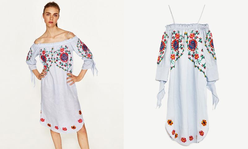 Vestido playero mujer zara