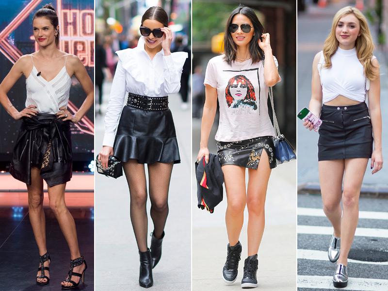 zapatillas de deporte para baratas comprar baratas colores delicados Minifalda de piel negra, ese (inesperado) fetiche de verano ...